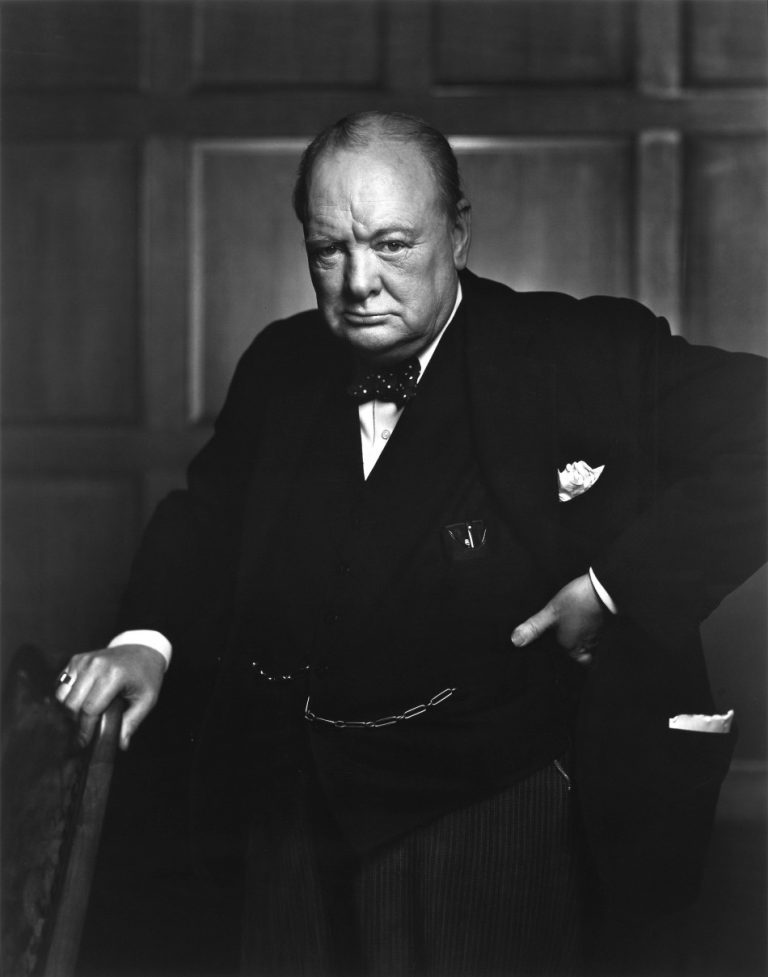 British Prime Minister Sir Winston Churchill