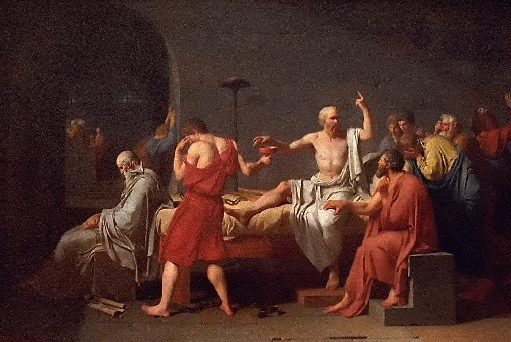 David, Death of Socrates (Image: Rodney via flickr CC BY 2.0 )