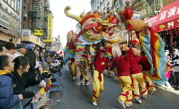 Dragon Dance in Chinatown NYC Lunar New Year(Image Credit: By Patrick Kwan from New York City, USA (Dragon in Chinatown NYC Lunar New Year) [CC BY 2.0], via Wikimedia Commons)