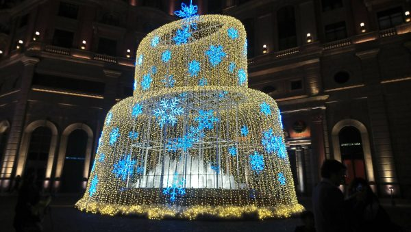 The Christmas decoration at a hotel in Taipei City (Image: Courtesy of Pern Jane)