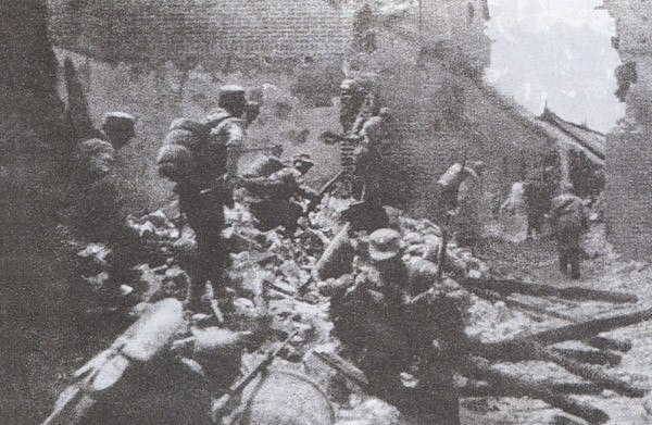 ROC soldiers in house-to-house fighting in Battle of Taierzhuang. (Image: via wikipedia / CC0 1.0)