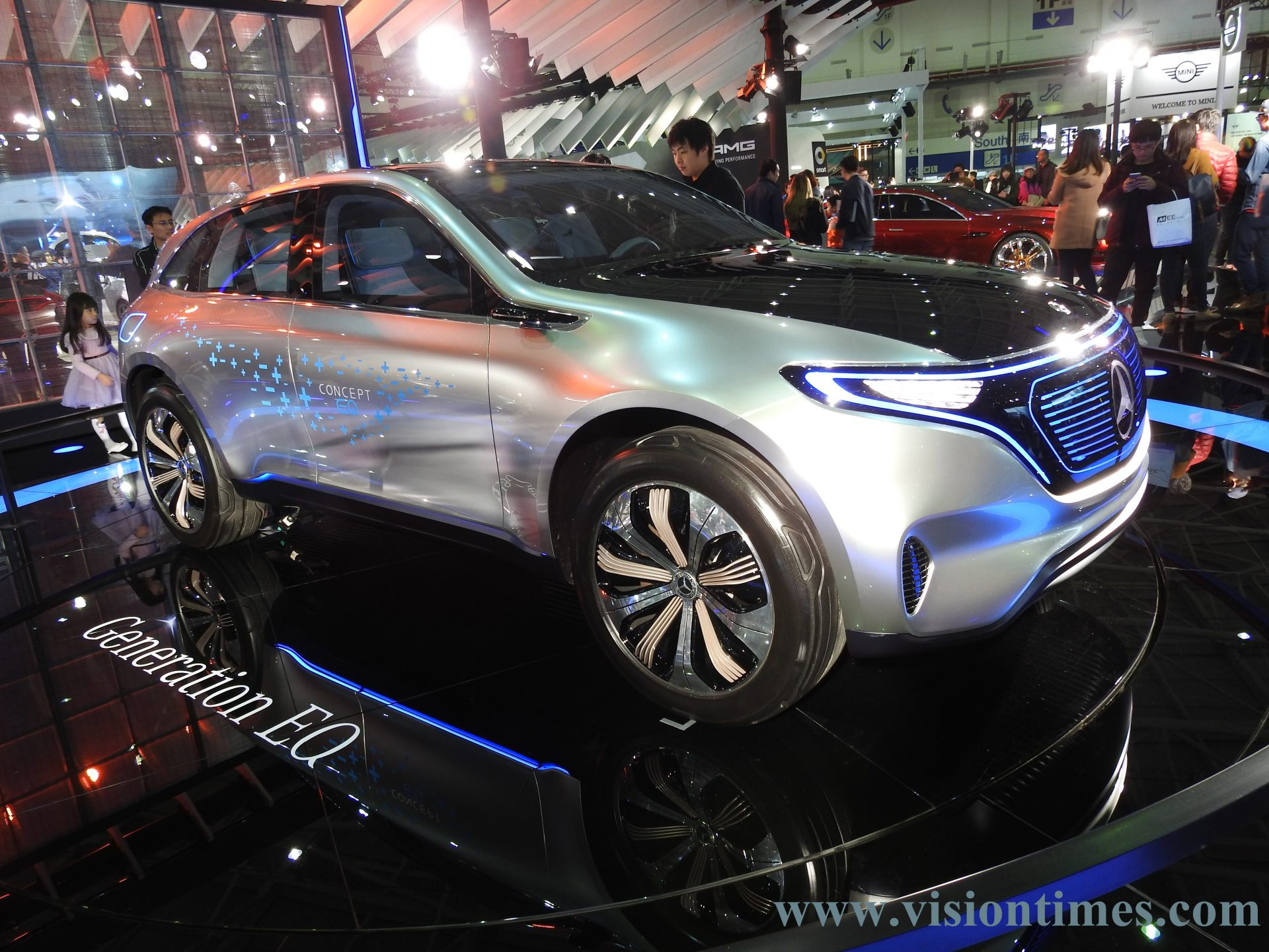 A Mercedes-Benz Generation EQ Concept vehicle at the 2018 Taipei International Auto Show (Image: Julia Fu / Vision Times)