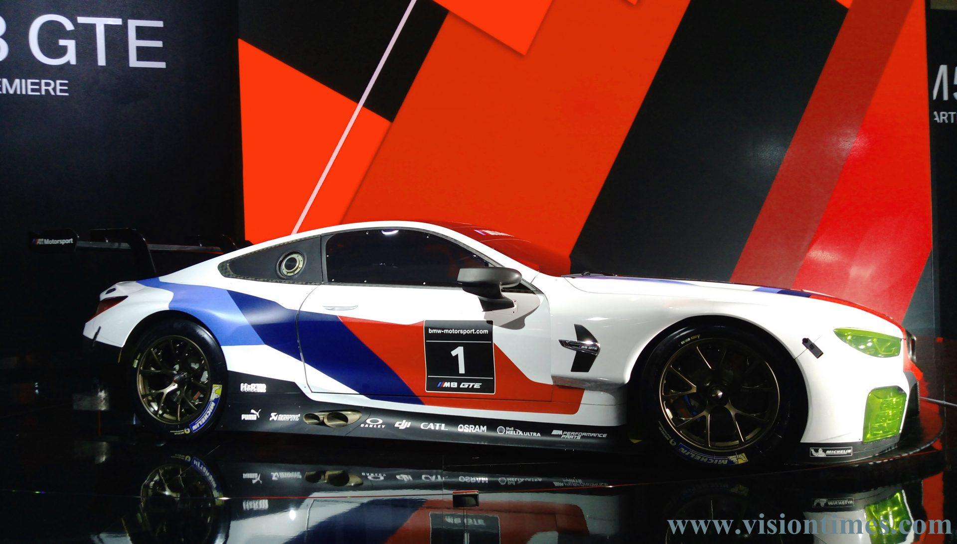 BMW M8 GTE Sport Car at the 2018 Taipei International Auto Show (Image: Billy Shyu / Vision Times)