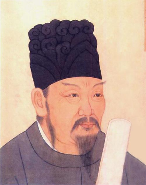 An official portrait of Li Jing, a great general of the Tang Dynasty.