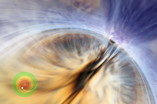 Passing through the outer or event horizon of a black hole would be uneventful for a massive black hole. Animation by Andrew Hamilton, based on supercomputer simulation by John Hawley.