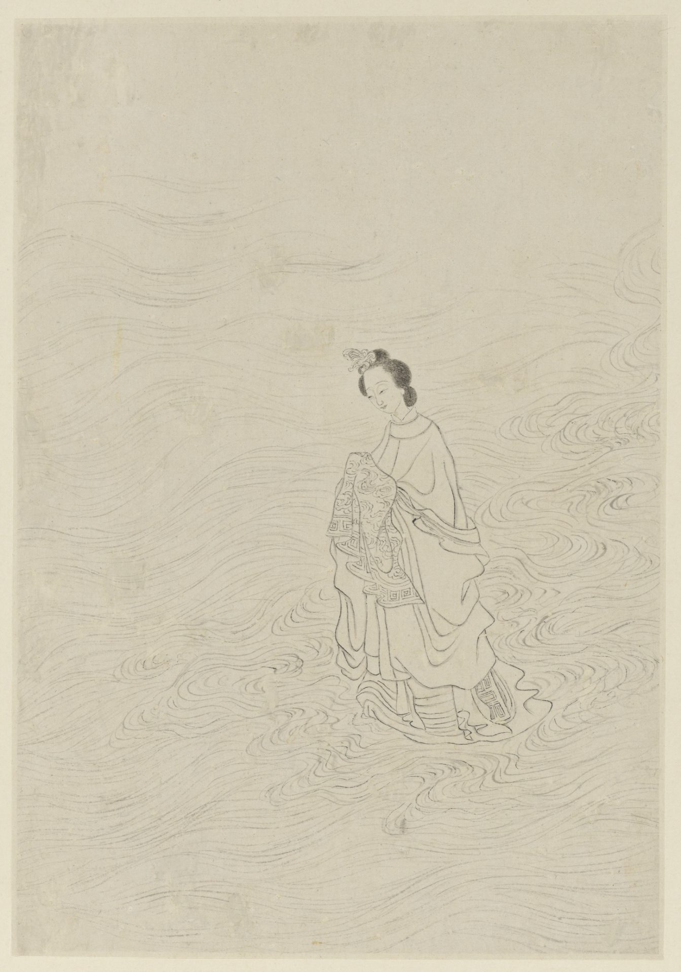 The Weave Maiden crossing the River of Heaven, as painted by Gai Qi, 1799. (Image: wikimedia / CC0 1.0)