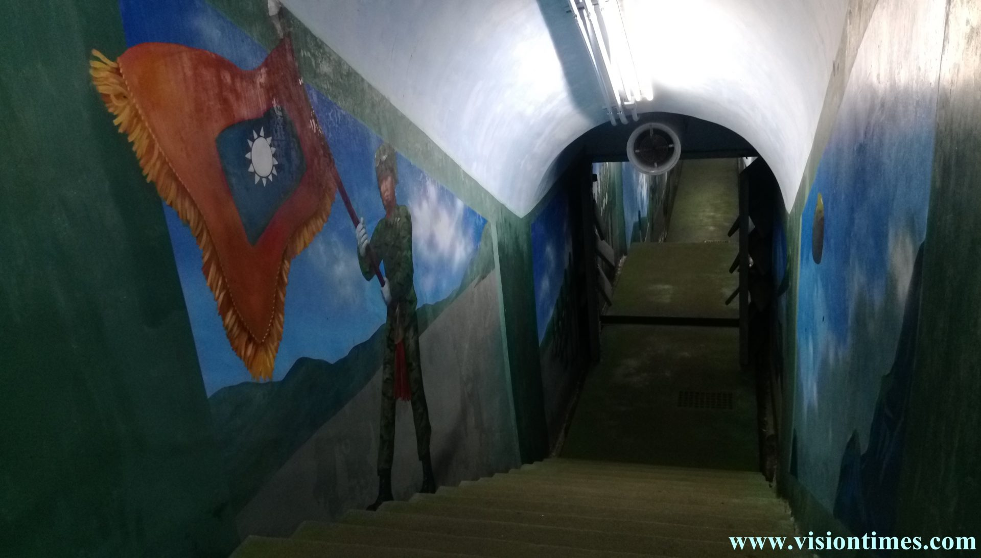 Next to Jiabanshan Guesthouse., a military tunnel was constructed to ensure Chiang Kai-shek's safety and serve as a command post if war broke out, (Image: Billy Shyu / Vision Times