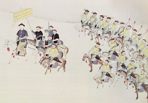 The Emperor mounted on his horse and guarded by his bodyguards. (Image: wikimedia / CC0 1.0)
