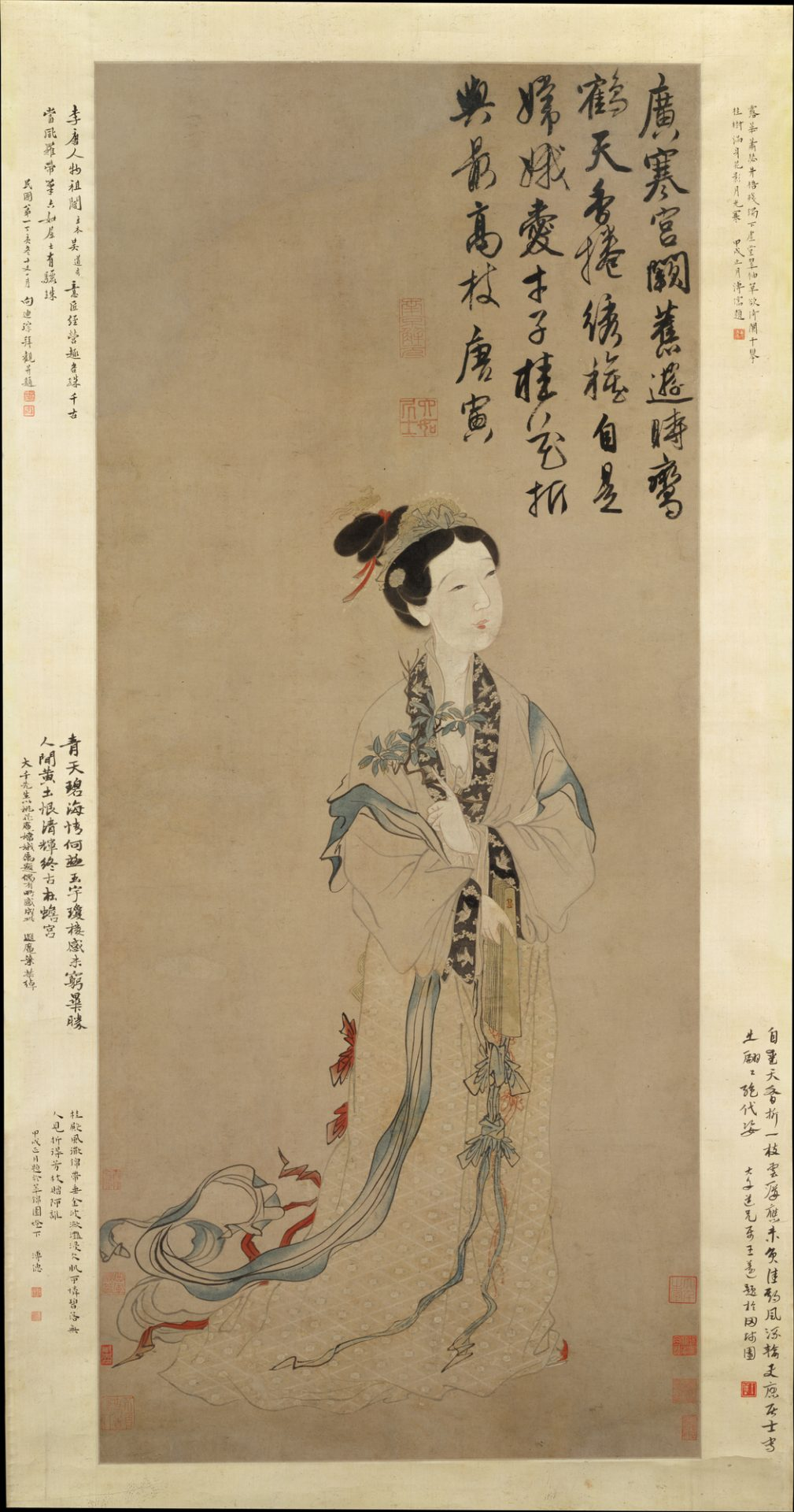 Ming dynasty painting entitled The Moon Goddess Chan'e. (Image: wikimedia / CC0 1.0)