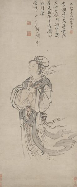 The Weaver Maiden with a shuttle in her hand, painted by Zhang Ling, Ming dynasty. (Image: wikimedia / CC0 1.0)