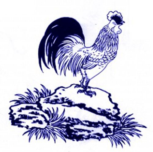 A rooster crowing on top of a rock. (Image: NTDTV)