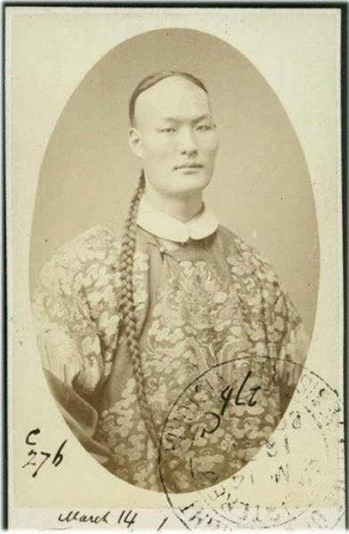 Zhan Shichai's image appeared on British stamps. (Source: Public Domain)