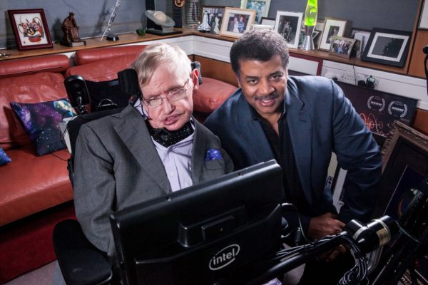 Stephen Hawkings with Neil deGrasse Tyson. (Image: Twitter)
