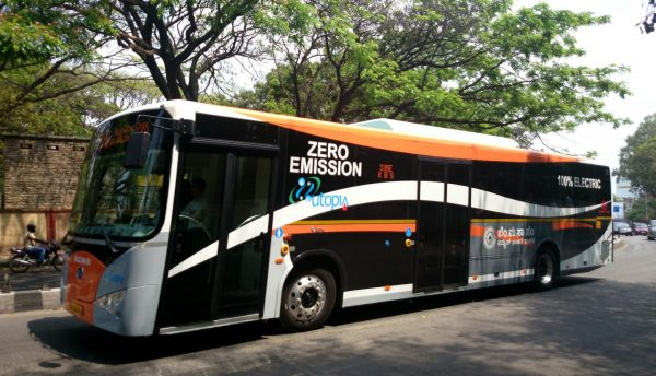 An electric bus in Bangalore, India. (Image: Ramesh NG via flickr CC BY-SA 2.0)