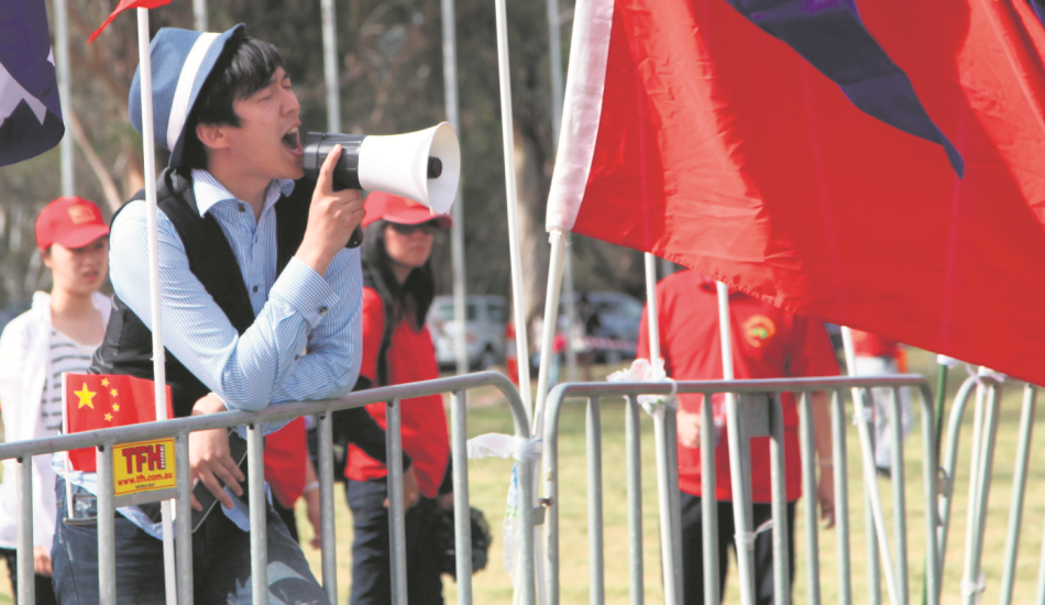 Many Chinese students believe that speaking out against the officially approved view, on any topic, is inappropriate. (Image: Yan Xia)