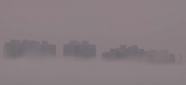 Many experts suggest that these images could be a fata morgana - an atmospheric mirage. (Image: YouTube/Screenshot)