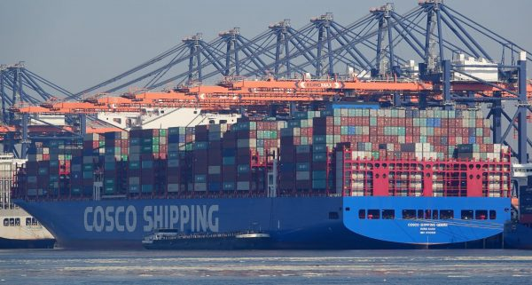 The port in question is run by Chinese state-owned shipping company, COSCO Shipping, making the allegations serious. (Image: kees torn via flickr CC BY-SA 2.0)