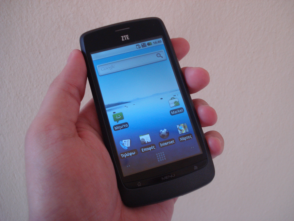 ZTE Blade phone. (Image: John Karakatsanis via flickr CC BY-SA 2.0)
