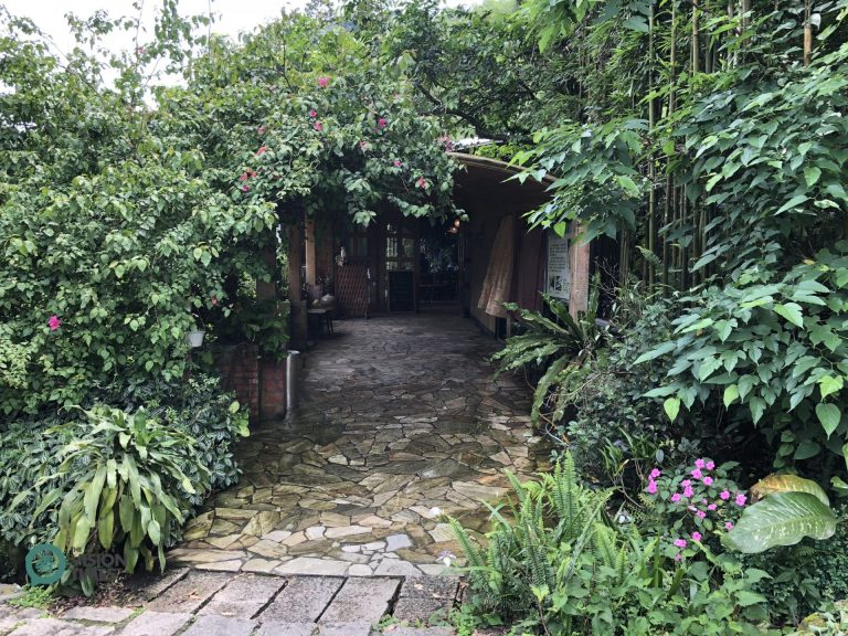The entrance of Fangyu Farm is covered by various plants, flowers and bamboo. (Image: Billy Shyu / Nspirement)