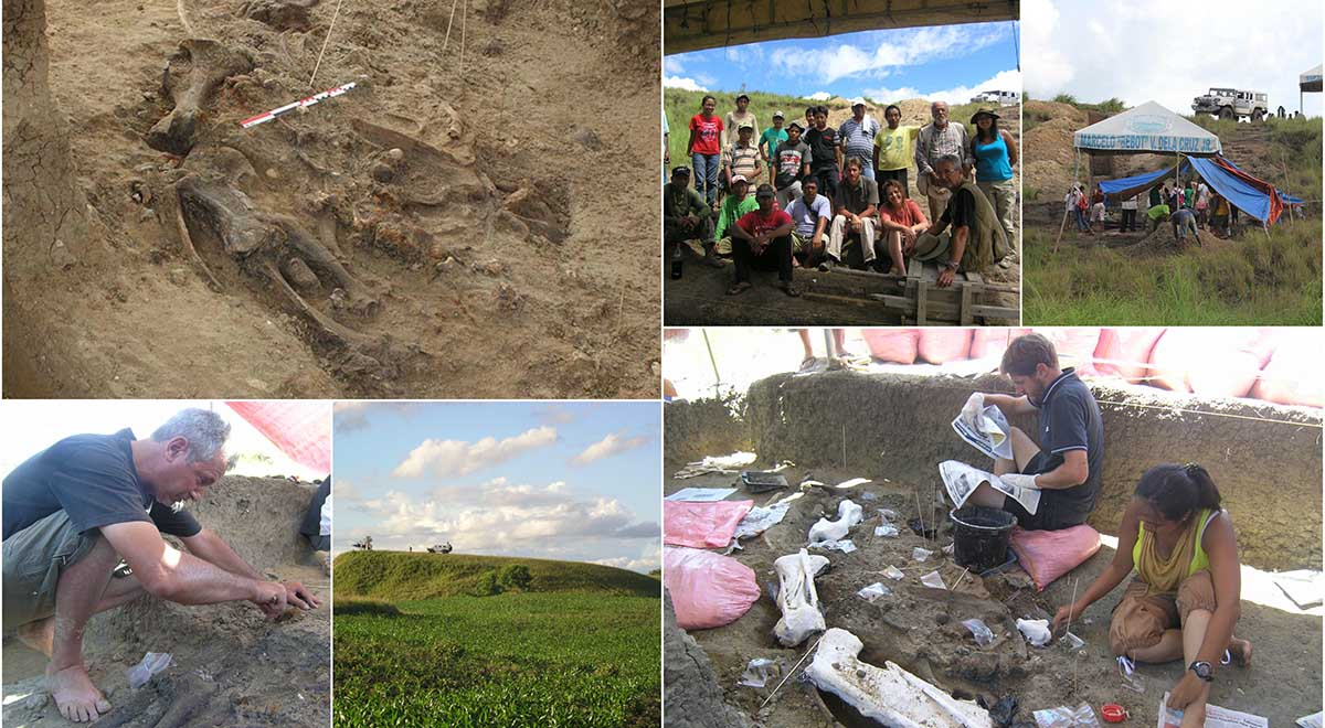 Images from the dig site at Kalinga on the island of Luzon in the Philippines. (Pictures: George Lyras and Gert van den Bergh)