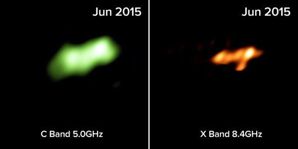 Radio-telescope images of Tidal Disruption Event in Arp 299. Credit: Mattila, Perez-Torres, et al., B. Saxton NRAO/AUI/NSF