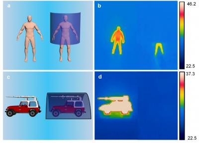 A newly developed stealth sheet can hide hot objects like human bodies or military vehicles from infrared cameras. (Image: HONGRUI JIANG)