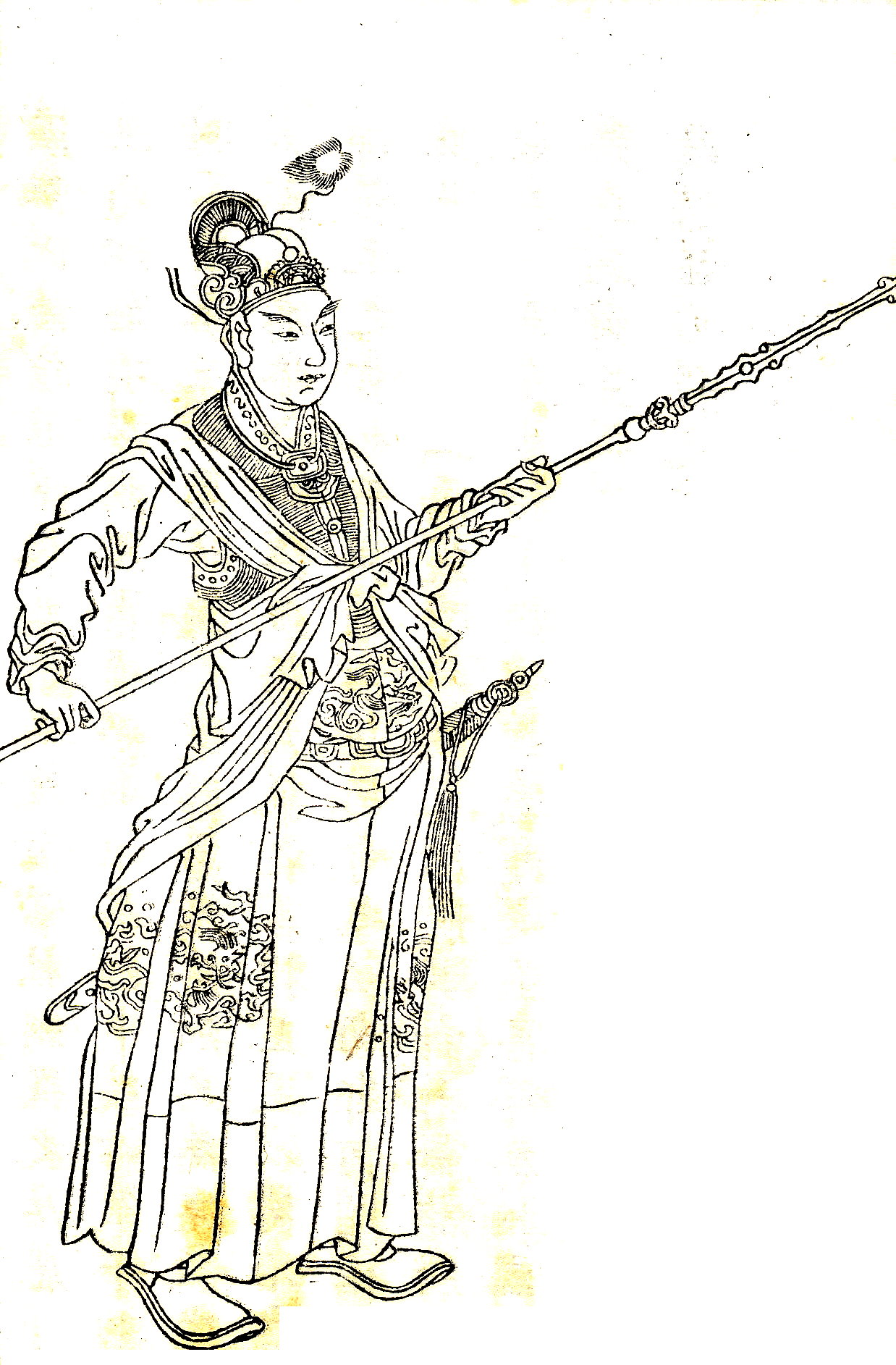 Han Xin (韓信) was a soldier of an obscure background. Born in eastern China, he was so poor during his youth that he could not afford to have a proper funeral for his mother when she died. (Image: wikimedia / CC0 1.0)