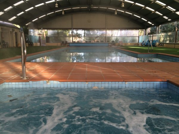 Indoor heated pool at the Kyneton Bushland Resort. Image by Trisha Haddock.