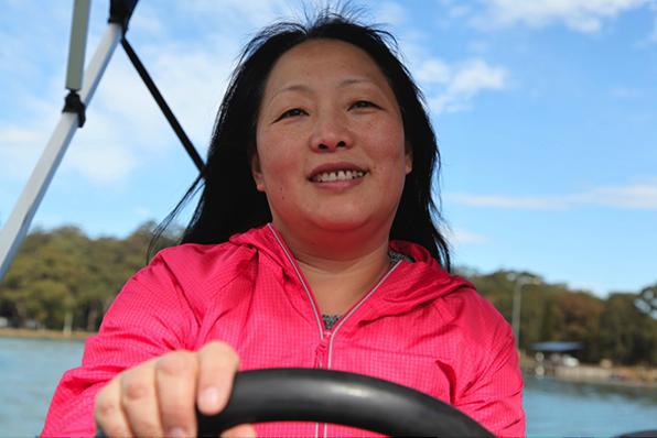Ying enjoying the freedom offered by Australia. (Image: Peter Wu)