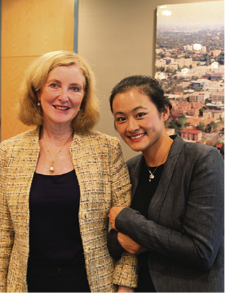 The Mayor of Willoughby with Ying's first daughter, Ivy. (Image: Peter Wu)