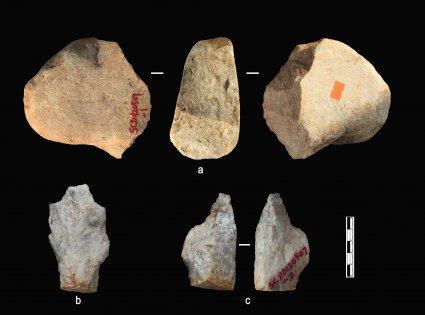 2.1 million years old artefacts. (Photo credit Professor Zhaoyu Zhu)
