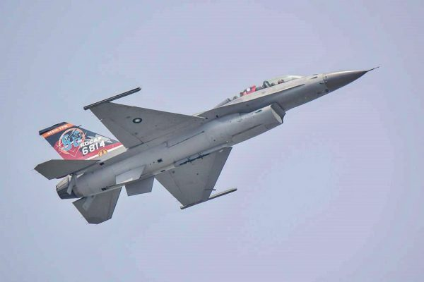 One of Taiwan's F-16 fighters at the air show on August 11, 2018. (Image: Courtesy of Wang Chia Yi )