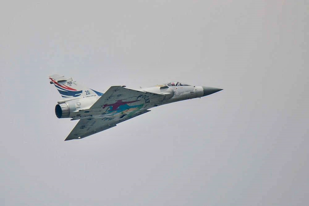 One of Taiwan's Dassault Mirage 2000s fighters at the air show on August 11, 2018. (Image: Courtesy of Wang Chia Yi)