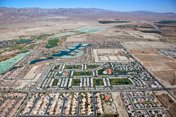 Local water agencies have pumped so much water from aquifers to supply homes, farmland and resorts in the Coachella Valley that the land is sinking. The Agua Caliente Indian Reservation, created in 1876, runs in a checkerboard pattern in the area of Palm Springs. (Image credit: Tim Roberts Photography / Shutterstock)