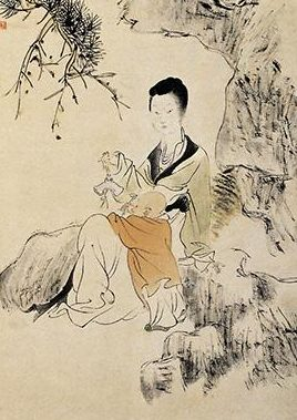 After the birth of Zhonghui, Zhang Changpu became more and more favored. Qing Ren, Looking at the map. (public domain)