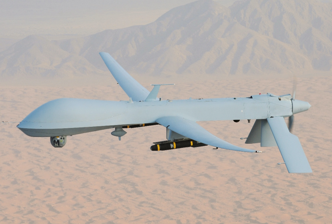 Among the items on offer was footage of a Predator remotely piloted aircraft flying over the Gulf of Mexico. (Image: wikimedia / CC0 1.0)