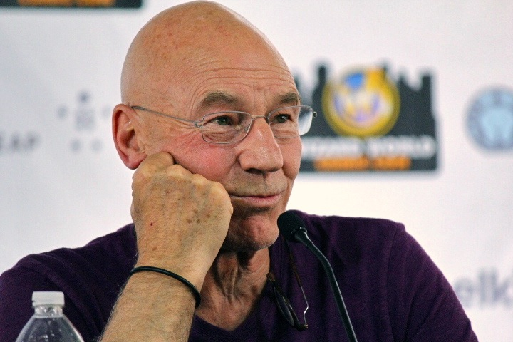 Patrick Stewart portrayed the character of Picard in all seven seasons of Star Trek: The Next Generation. (Image: Abbyarcane via wikimedia CC BY-SA 3.0)