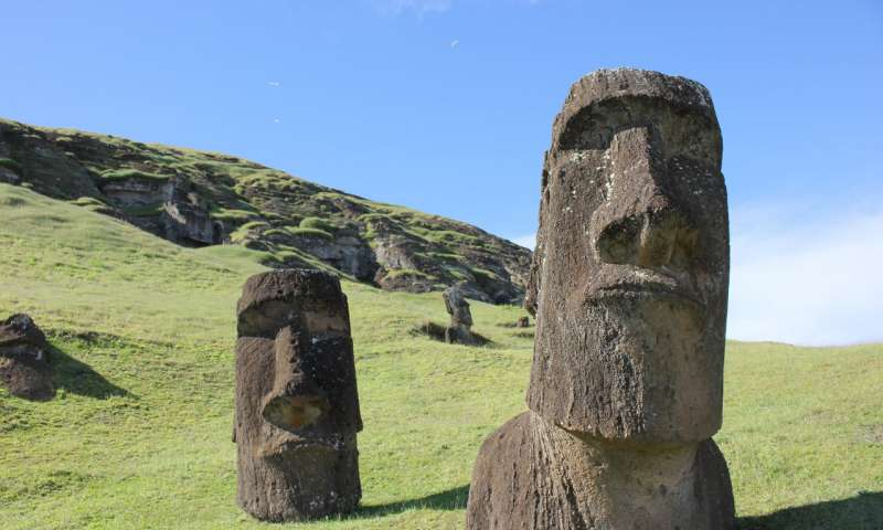 Examples of the Easter Island statues, or moai. (Image:: Dale Simpson, Jr.)
