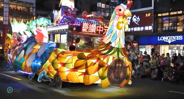 One of the colorful floats provided by the Chang-Liao-Chien Clan Association in the 2018 Keelung Ghost Festival. (Image: Billy Shyu / Vision Times)