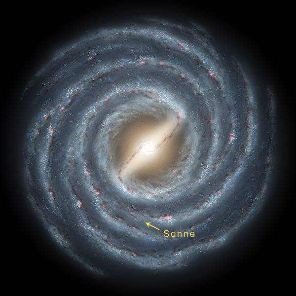 Fire wheel: The Milky Way system, called galaxis, resembles a gigantic spiral with an estimated 200 billion stars. One of them is our Sun. (Image: Robert Hurt/SSC/Caltech/JPL/NASA Robert Hurt)