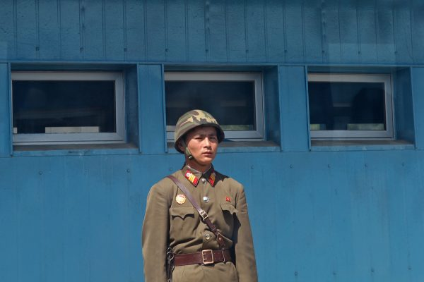 A North Korean soldier stands guard at the North-South border. (Image: Roman Harak via Flickr CC BY-SA 2.0)