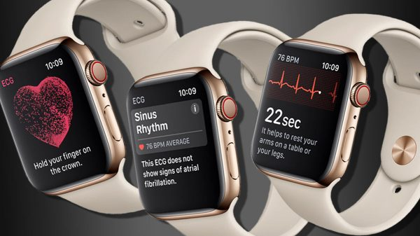 The EKG apps are designed to catch irregular heart rhythms that may not necessarily show up during a medical exam but that can signal serious heart risks. (Image: Apple)