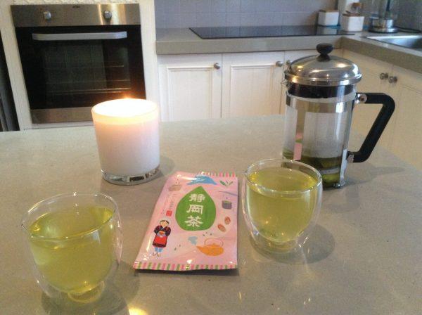 Makinohara Green Tea being served. (image by Trisha Haddock