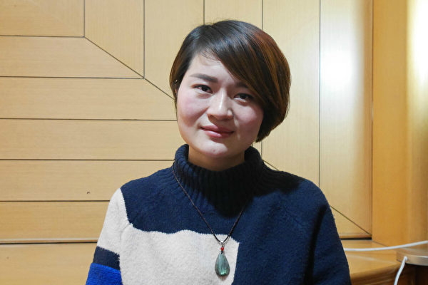 Li Wenzu, wife of Wang Quanzhang, a human rights lawyer in China. (Image: The Epoch Times)