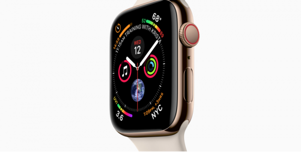 The second, for the Series 4 watch only, is the ECG feature – which the wearer of the watch must manually activate. (Image: Apple)