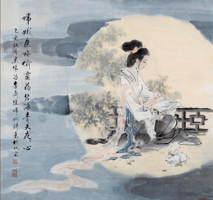 At the center of the Mid-Autumn Festival is the ancient story of Chang'e (嫦娥), the goddess of the moon, and her husband, the divine archer Hou Yi (后羿). (Image: wikimedia / CC0 1.0)