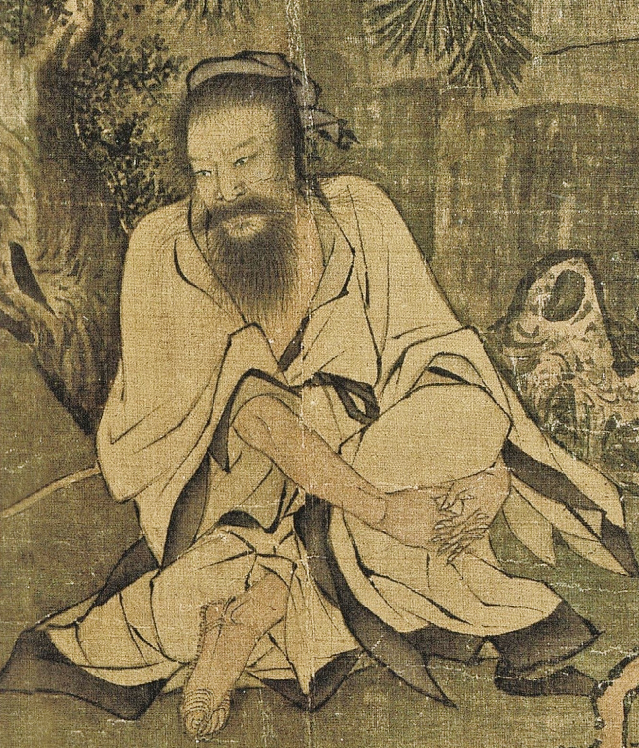 The other brother crosses his legs and listens very intently. (Image: Secret China)