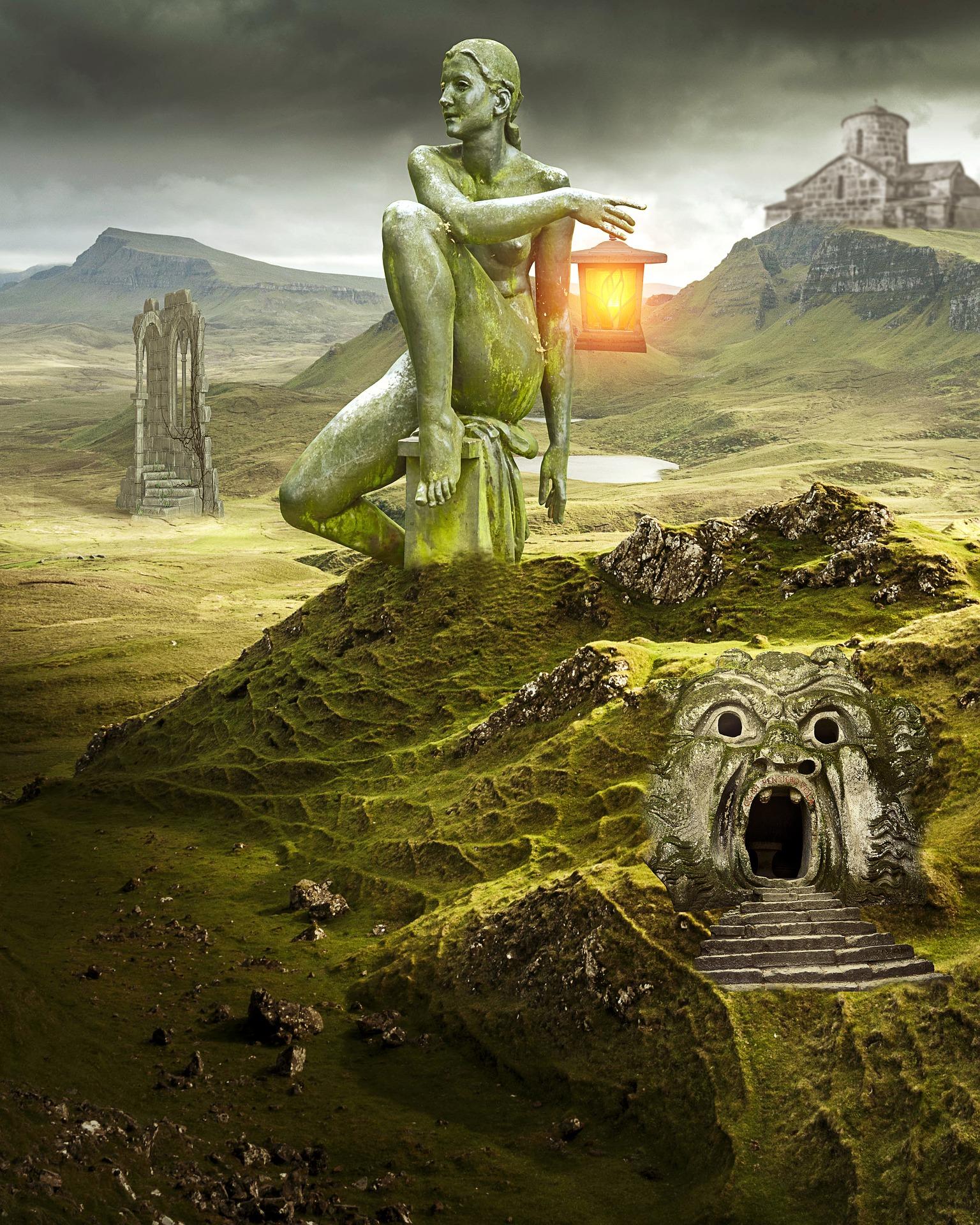 Symbolic rendition of entrance to underworld. (Image via maxpixel / CC0 1.0)