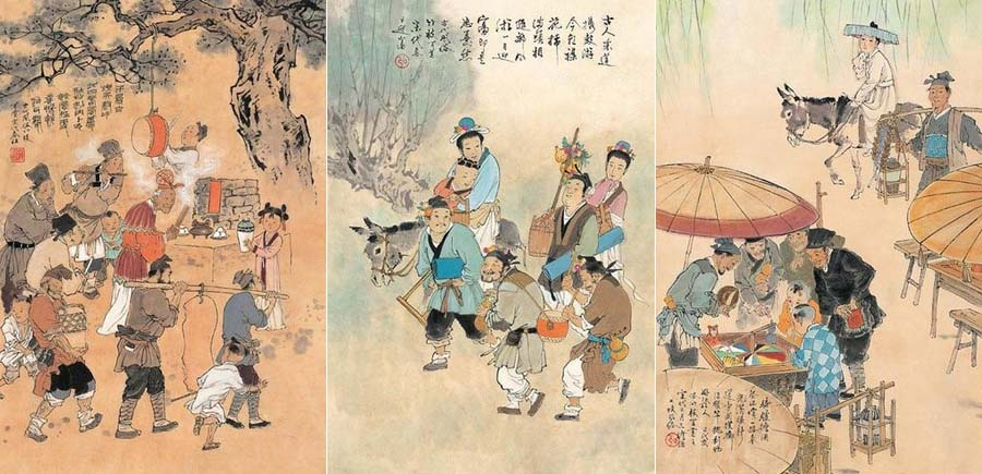 The paintings depict the folk customs during the Spring festival in the Song Dynasty. (Image: Taipei National Palace Museum)