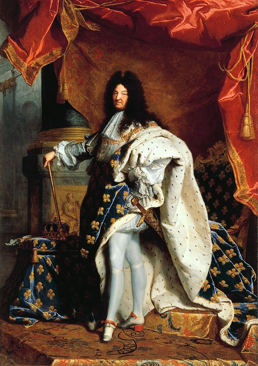 In the West, Louis XIV was also known to be a diligent King. (Image Credit: Hyacinthe Rigaud [Public domain], via Wikimedia Commons)